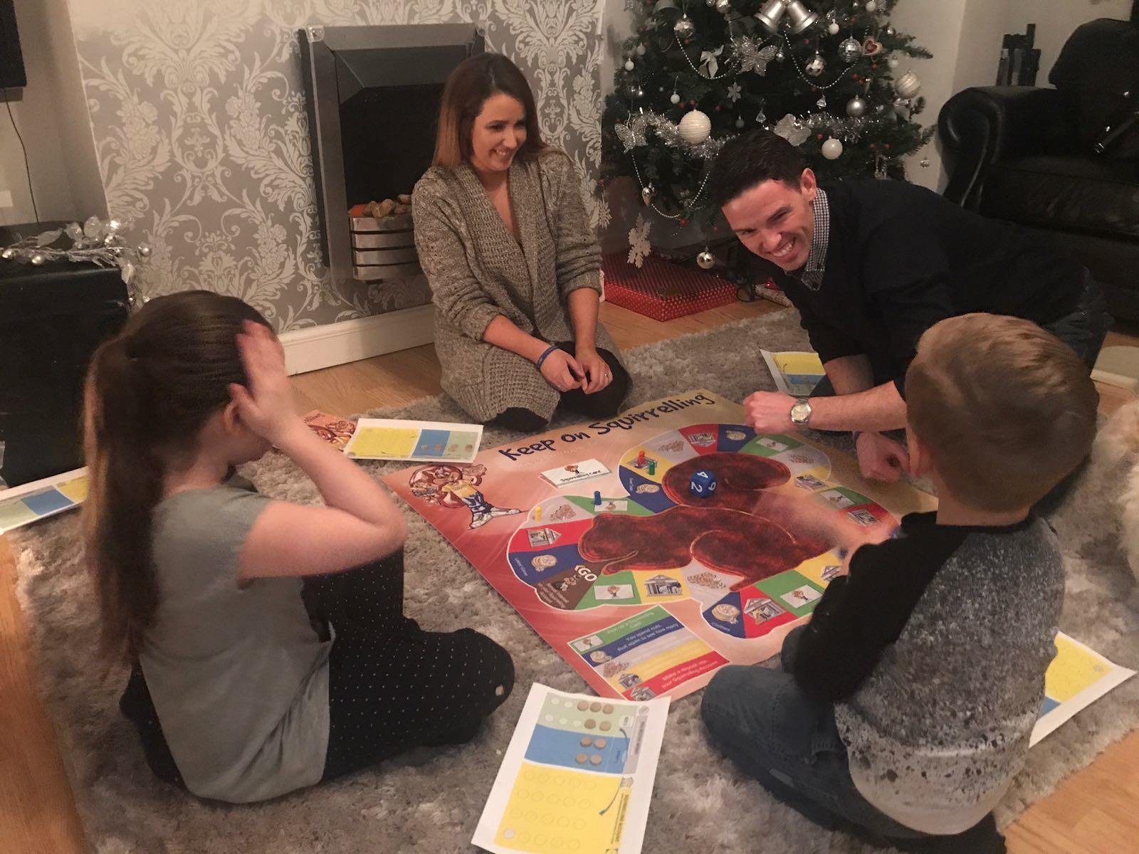 family games night in